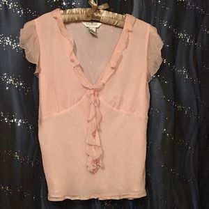 NWT 100% Silk Pretty in Pink Top